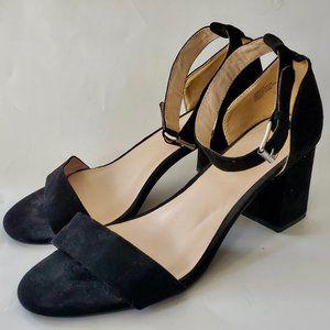 Torrid Block High Heels Shoes Black Sandals 11W